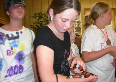 Everyone wanted to hold the milk snake | Lakeland Christian 5th grade 2008 | Creation Critters | Lakeland