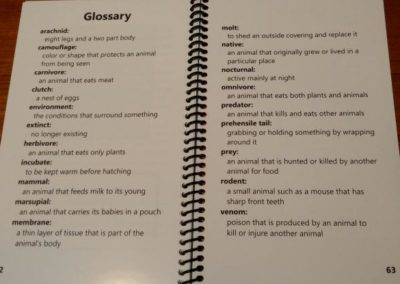 Glossary Page | Creation Critters Book | Creation Critters | Lakeland
