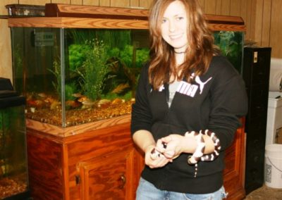 Holding California King Snake