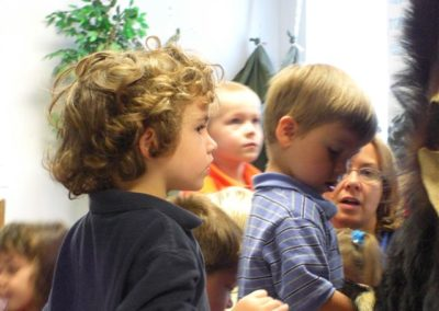 Looking at the bear skin | Northside Christian Pre-school | Creation Critters | Lakeland
